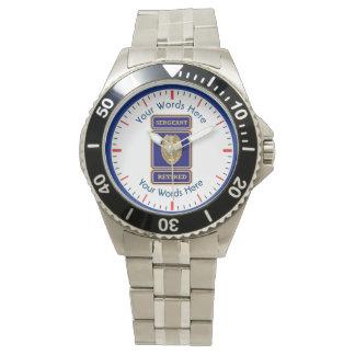 Retired Police Sergeant Custom Shield Watch