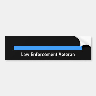 Retired Police Sheriff Law Enforcement Blue Line Bumper Sticker