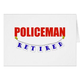 RETIRED POLICEMAN GREETING CARD