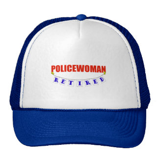 RETIRED POLICEWOMAN MESH HATS