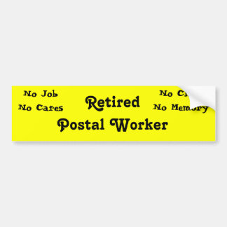 Retired Postal Worker Bumper Sticker
