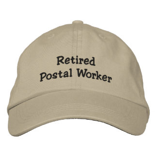 Retired Postal Worker Embroidered Baseball Caps