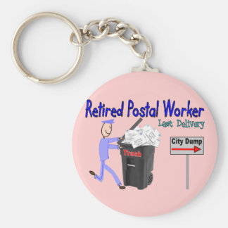 Retired Postal Worker Last Delivery Key Ring