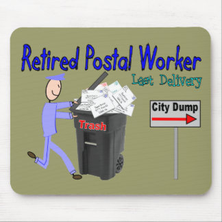 Retired Postal Worker Last Delivery Mouse Mat
