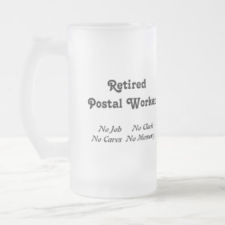 Retired Postal Worker Frosted Beer Mugs