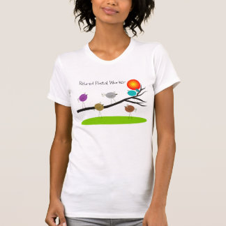Retired Postal Worker T-Shirts Retro Birds