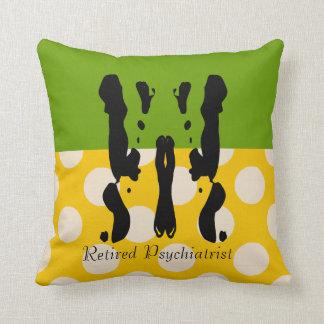 Retired Psychiatrist Rorschach Polka Dots Throw Pillow