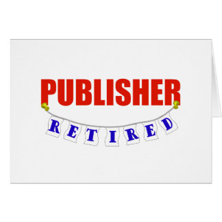 RETIRED PUBLISHER GREETING CARD