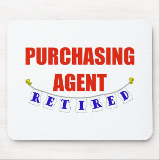 RETIRED PURCHASING AGENT MOUSE PAD