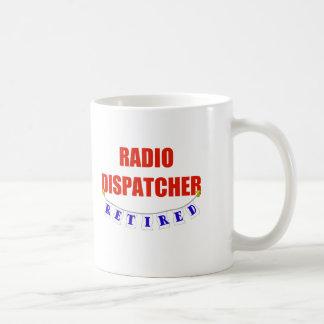 RETIRED RADIO DISPATCHER BASIC WHITE MUG