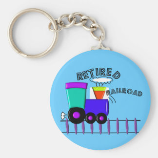 Retired Railroad Worker Gifts Basic Round Button Key Ring