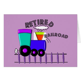 Retired Railroad Worker Gifts Card