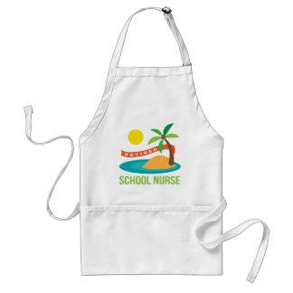 Retired School Nurse Beach Standard Apron