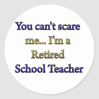 Retired School Teacher Classic Round Sticker