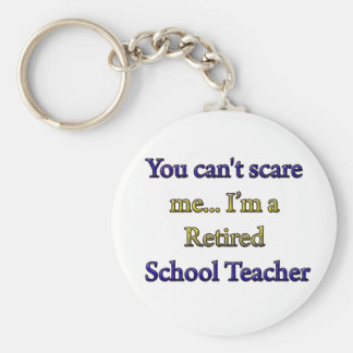 RETIRED SCHOOL TEACHER KEY RING
