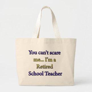 RETIRED SCHOOL TEACHER LARGE TOTE BAG