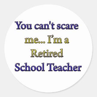 Retired School Teacher Round Sticker