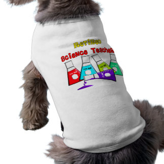 Retired Science Teacher Beeker Design Sleeveless Dog Shirt
