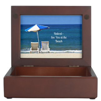Retired--See You at the Beach Keepsake Boxes