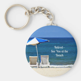 Retired - See You at the Beach Basic Round Button Key Ring