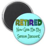 Retired SENIOR DISCOUNT Magnets