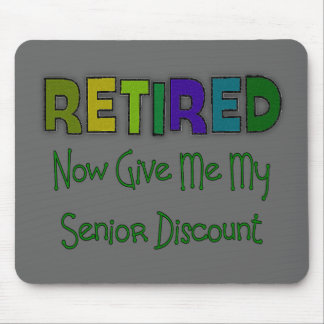 Retired SENIOR DISCOUNT Mouse Mat