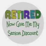 Retired SENIOR DISCOUNT Stickers