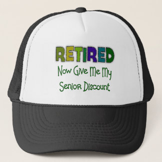 Retired SENIOR DISCOUNT Trucker Hat