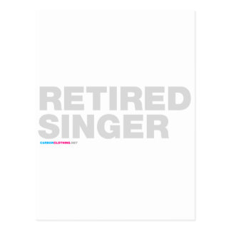 Retired Singer Postcard