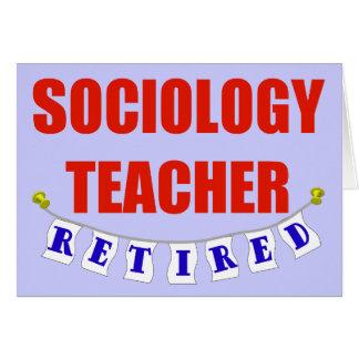 RETIRED SOCIOLOGY TEACHER GREETING CARD