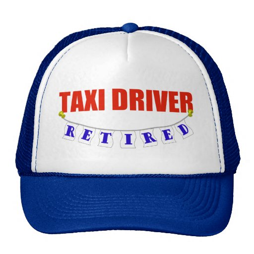 RETIRED TAXI DRIVER MESH HATS