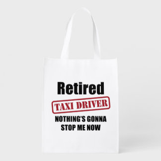 Retired Taxi Driver Reusable Grocery Bag