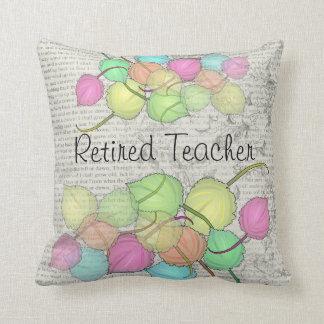 Retired Teacher Artsy Leaves Pillow