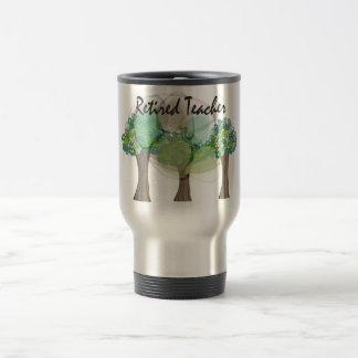 Retired Teacher Artsy Trees Design Gifts Mugs