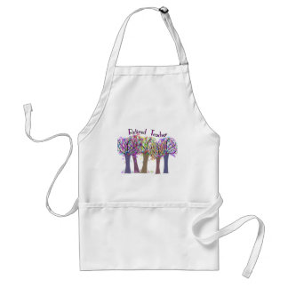 Retired Teacher Artsy Trees Design Standard Apron