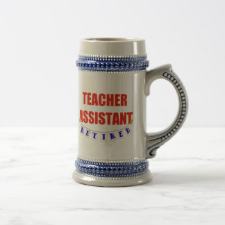 RETIRED TEACHER ASSISTANT COFFEE MUGS