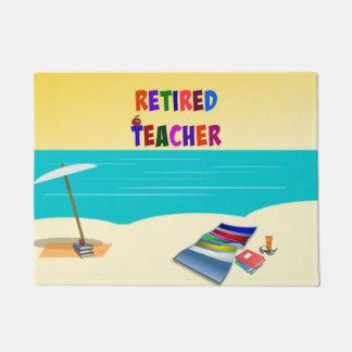 Retired Teacher - At the Beach Doormat