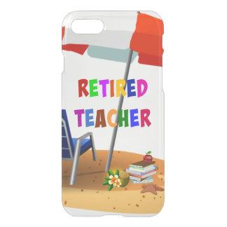 Retired Teacher, Beach Scene (revised) iPhone 8/7 Case