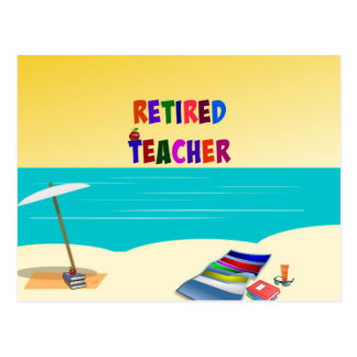 Retired Teacher, Fun in the Sun Postcard