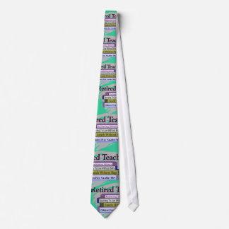 Retired Teacher Funny Books Men's Tie