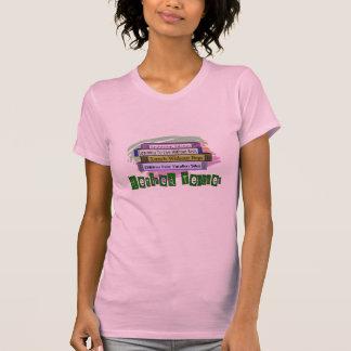 Retired Teacher (Funny Stack of Books Design) T-Shirt