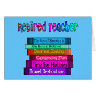 Retired Teacher Gifts Stack of Books Design Card