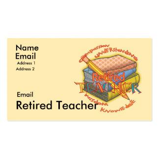 Retired Teacher Motto Business Card