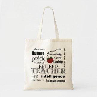 Retired Teacher Pride-Red Apple+Customizable Tote Bag