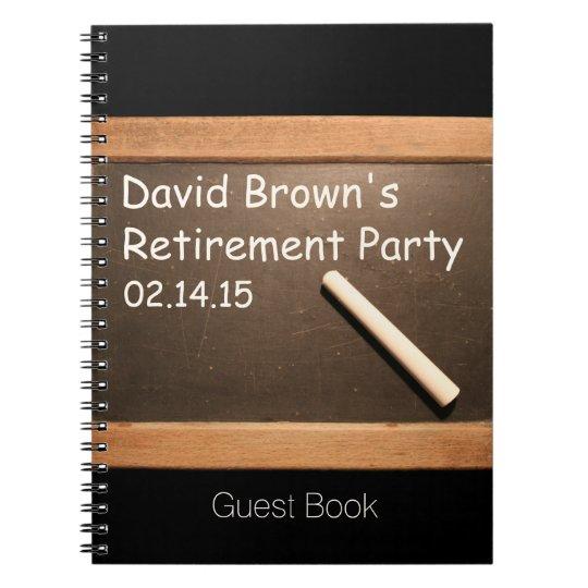 Retired Teacher Retirement Party Guest Book