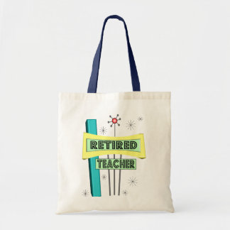 Retired Teacher RETRO Design Tote Bag