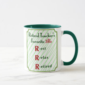 Retired Teacher's Mug: 3Rs - Mug