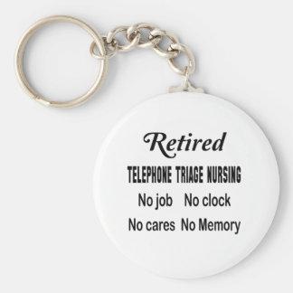 Retired Telephone triage nursing No job No clock N Basic Round Button Key Ring