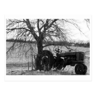Retired Tractor Postcard