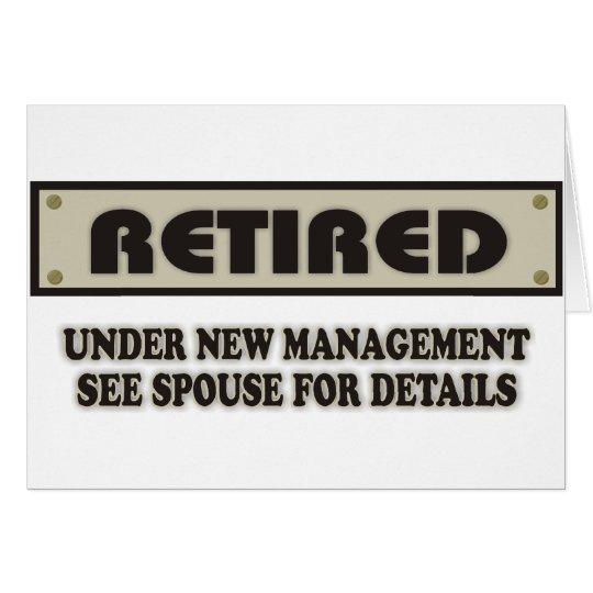 RETIRED. Under New Management Card